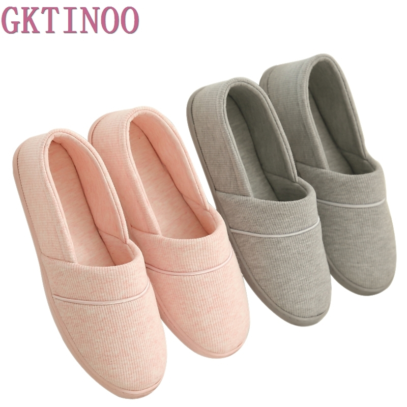 GKTINOO At Home Women's Cotton Indoor Slippers Shoes