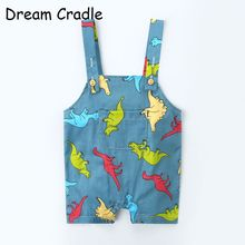 Dream Cradle / Boys Summer Clothes Cotton Baby Outfits Dinosaur Strap Boy Onesie