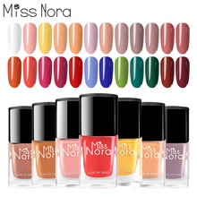 MISS NORA Water based Paint Nail Polish 6ML Gel Nail Polish Art Soak set Gel Lacquer Semi Permanent Top Base Coat Cuticle Oil