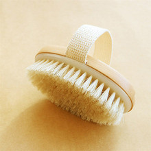 Hot Dry Skin Body Soft natural bristle the SPA the Brush Wooden Bath Shower without Handle