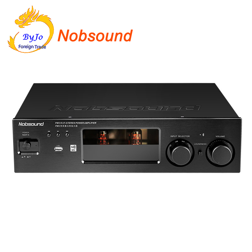 Nobsound PM5 Hi-Fi Stereo Power Amplifier NFC Wireless Bluetooth Amplifier Support USB CD DVD 80W + 80W Power Black new nobsound pm5 tube amplifier with bluetooth nfc usb flac lossless music player hifi stereo amp audio amplifier 80w 80w