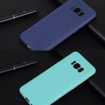 Funda de teléfono de silicona para Samsung Galaxy S9 S8 Plus S7 edge A6 A8 Plus A5 A7 A9 2018 A8 A9 Star Note 8 9, funda de Color caramelo