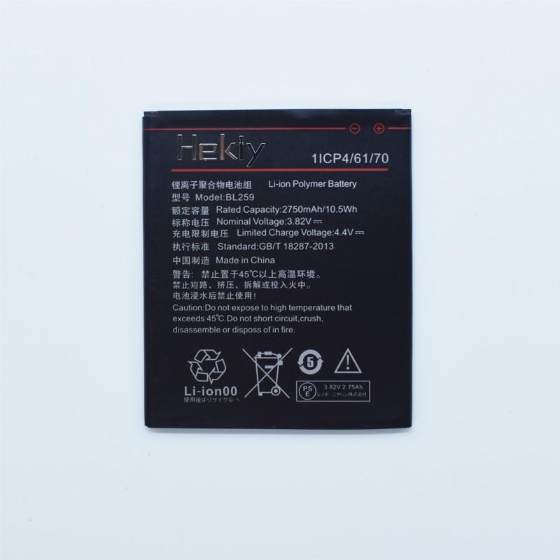 Hekiy 2018 New Battery 2750mAh BL259 Battery For Lenovo Lemon 3 3S K32C30 K32c36 Vibe K5 / K5 Plus Battery High Quality
