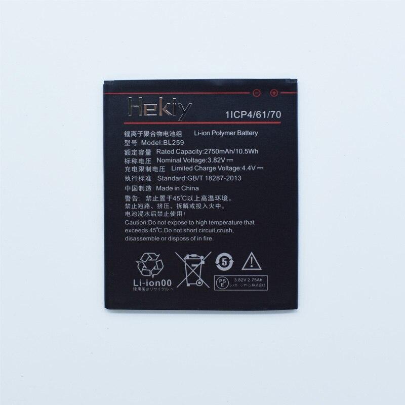 Hekiy 2018 nueva batería 2750 mAh BL259 batería para Lenovo Lemon 3 3 s K32C30 K32c36 Vibe K5/K5 Plus de alta calidad