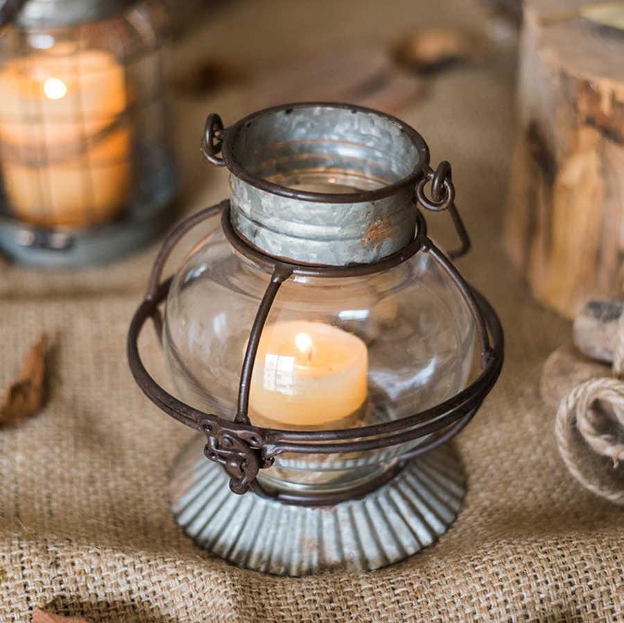 Metal Shabbat Metal Lantern Iron Decoration Owl Teatick Lighthouse Candle Container Fener Regime Glass Vintage Shabbat 5Z217