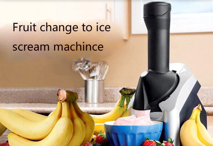 Fruit Ice Cream Maker Household Ice Cream Machine Automatic Fruit, EU/US Plug