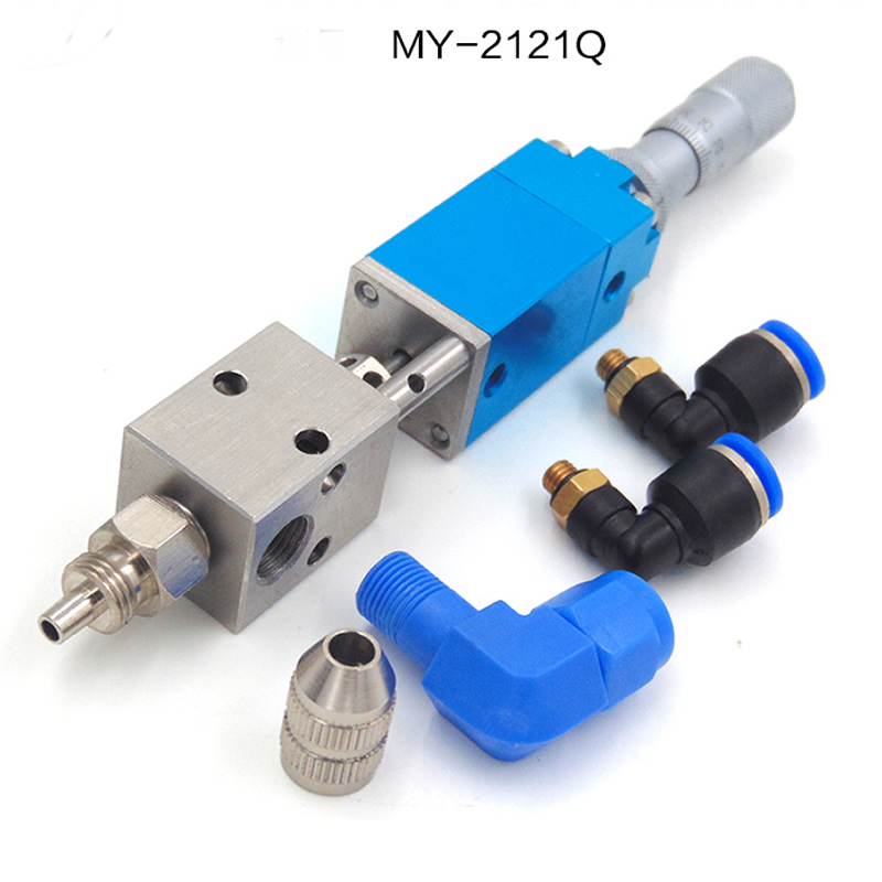 MY2121Q thimble precision dispensing valve UV glue ink alcohol dispensing valve pneumatic dispensing chemical resistance
