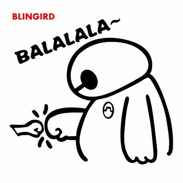 Blingird 14 Cm 13 Cm Besar Putih Lucu Kartun Keren Decal Stiker