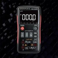 ZOYI ZT-X True-RMS Авто Диапазон Цифровой мультиметр AC/DC Вольтметр Амперметр 9999 отсчетов NCV ЖК-дисплей подсветки английский/русский m