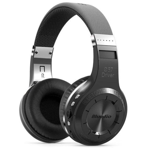 Buena calidad bluedio h + super bass stereo bluetooth wireless headset auriculares con micrófono, soporte de radio fm y tf tarjeta de juego