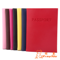 Zongshu Brand Cow Genuine Leather Travel Passport Cover Wallet