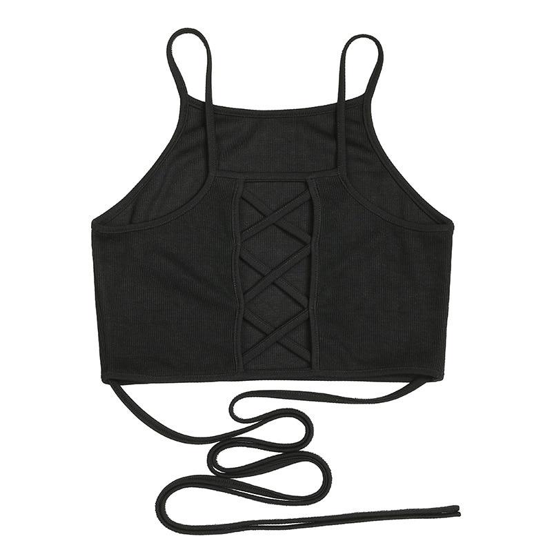 HTB1TZiJRVXXXXcFXFXXq6xXFXXX0 - FREE SHIPPING Women Sleeveless Sexy Bandage T Shirt Top JKP143