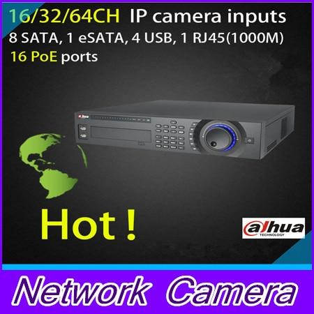 Dahua NVR 16 PoE ports 16/32CH 2U 16PoE Network Video Recorder NVR7816-16P ,NVR7832-16P 8 SATA, 1 eSATA, 4 USB, 1 RJ45(1000M)