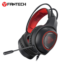 лучшая цена FANTECH HG16 Wired Gaming headphones Best Deep Bass Game Earphone computer Headset with Mic LED Light for Laptop PC Gamer