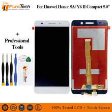 цена на Black White Gold LCD Display For Huawei Y6 II Compact Honor 5A LYO-L01 LYO-L21+ 5 Touch Screen Digitizer Assembly Replacement