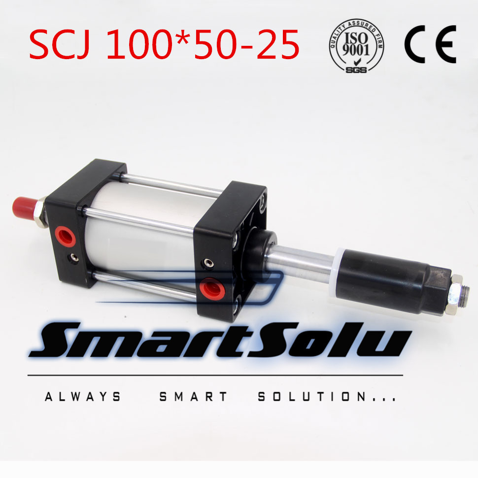 Free Shipping Airtac type Standard air cylinder single rod 100mm bore 50mm stroke SCJ100x50-25 25mm adjustable stroke cylinder free shipping airtac type standard air cylinder single rod 80mm bore 25mm stroke scj80x25 25 25mm adjustable stroke cylinder