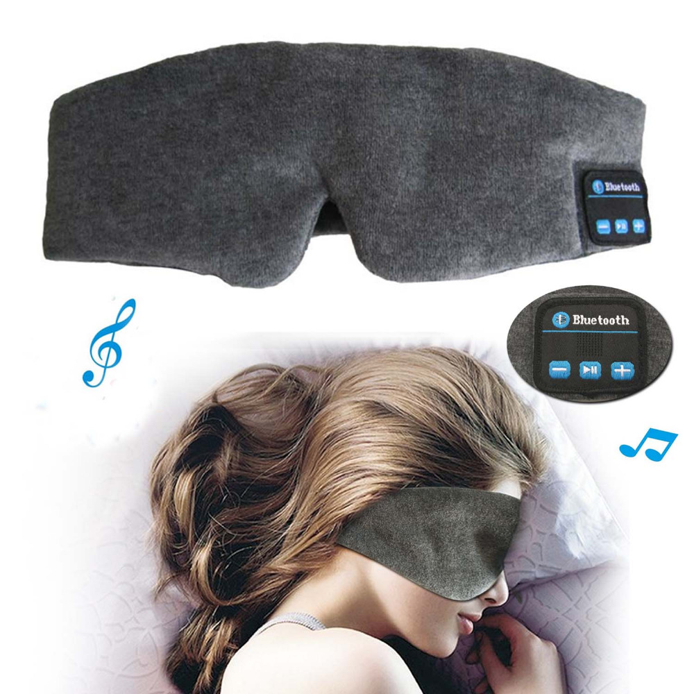 JINSERTA Wireless Stereo Bluetooth Earphone Sleep Mask Phone Headband Sleep Soft Earphones for Sleeping Eye Mask Music Headset 2016 noise cancelling wireless sleep headphones stereo 2 4ghz bluetooth headset for listenting music answering phone eye mask