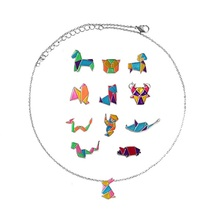 SANSUMMER Necklaces Women Animal Sign Necklace Geometric Abstract Cartoon Zodiac Personality Clavicle Chain 6527