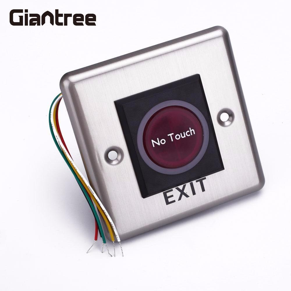 giantree DC 12V No Touch Door Button Panel Infrared Sensor Switch With Light Indication thyssen parts leveling sensor yg 39g1k door zone switch leveling photoelectric sensors