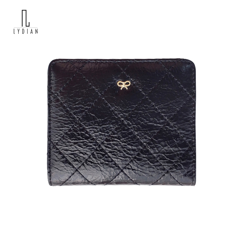 Lydian Sweet Bow knot Decoration Short Wallet Women 2018 Japan Sweet Style Ultra-Thin Card Bit Small Coin Purse Bi-Fold Wallets