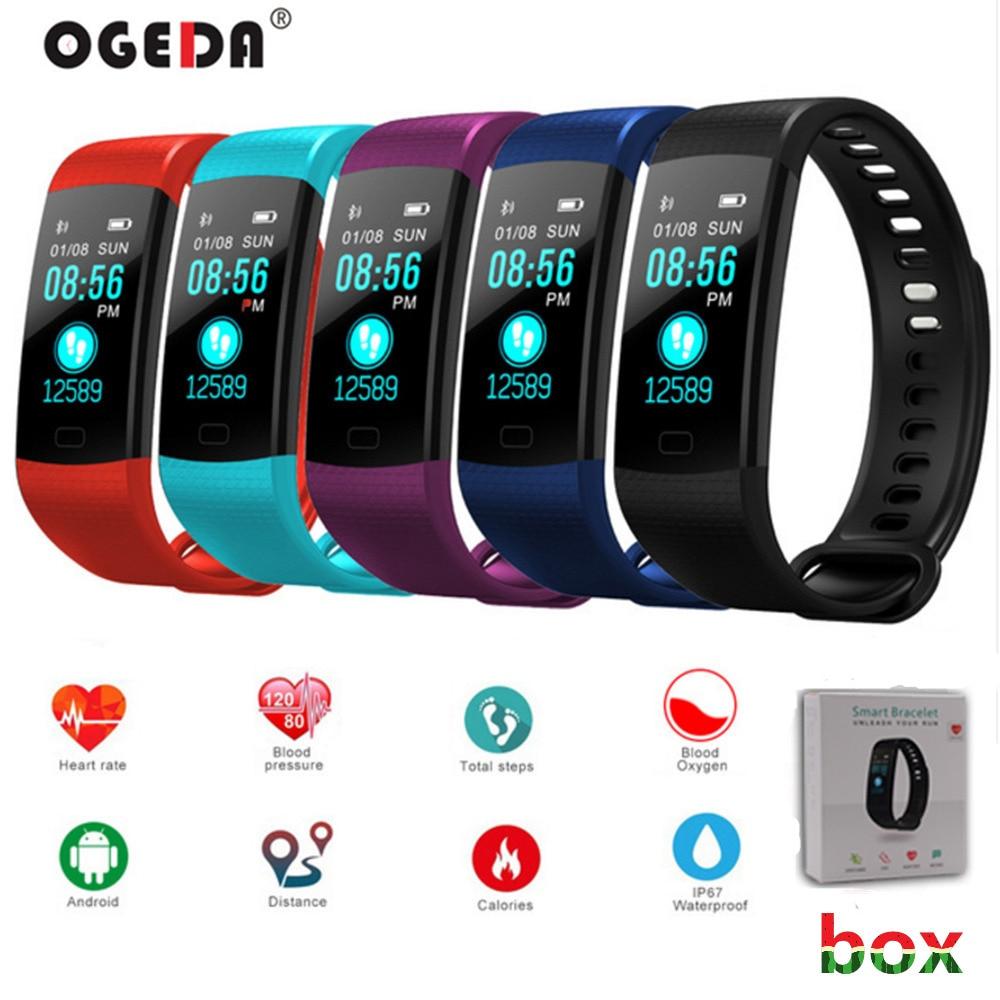 OGEDA 2018 femmes smart watch Fitness intelligente Bracelet Bracelets Moniteur de Fréquence Cardiaque Sang Pression Bande