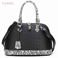 Women Leather Handbag Fashion Vintage Snake Casual Tote Bag Shoulder Bag Famous Brand Designer High Quality Lady Messenger Bags