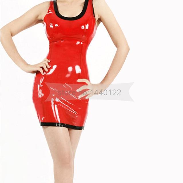Sexy Latex Dress Natural Rubber Handmade Costumes Erotic Latex Costume Plus  Size Dress Women Dress BNLD037 399c7411ada6