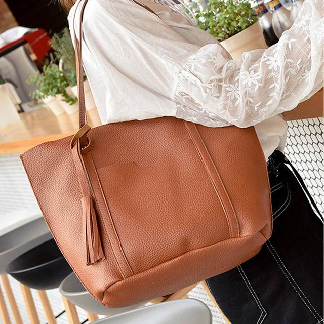 2017 New 4PCS Women Messenger Bags Satchel Tote Crossbody Ladies Purse and Handbags Sets Ladies PU Leather Shoulder Bags