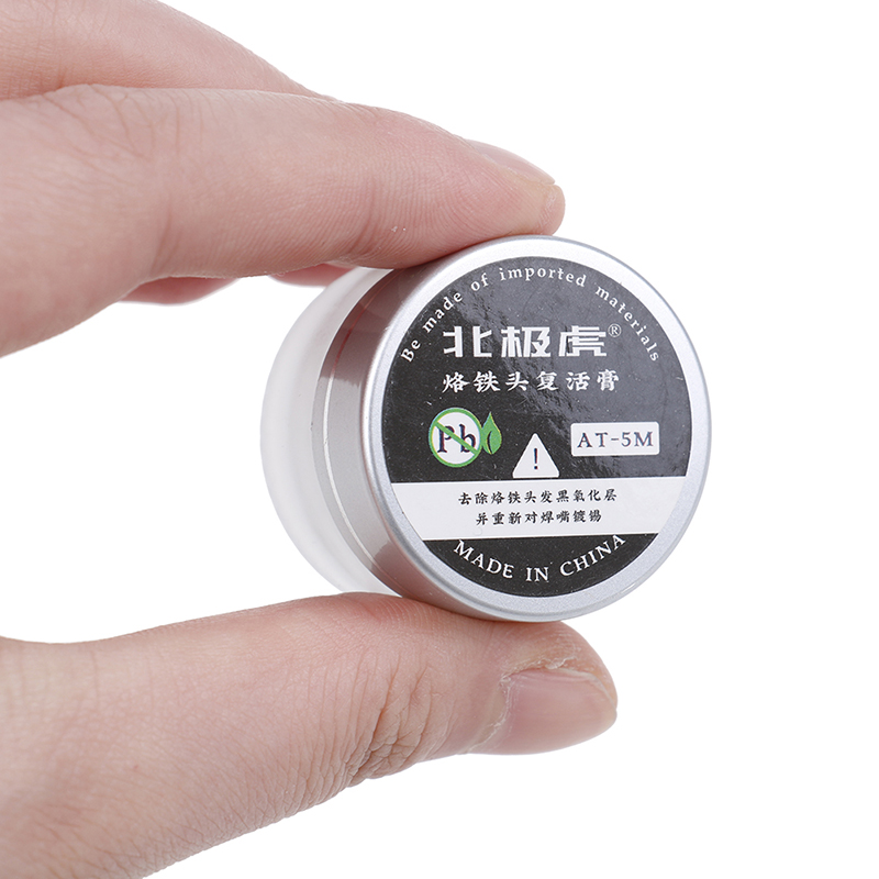 Image 3 - New Hot HELTC 1pc Soldering Iron Lead Free Tip Refresher Clean Paste For Oxide Solder Iron Tip Head Resurrection Repair Tools-in Welding Fluxes from Tools
