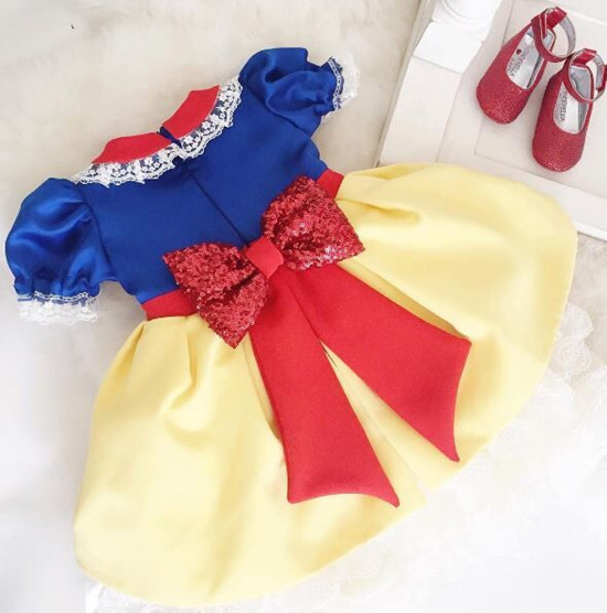 cute baby girls birthday dress with bow short sleeve toddler glitz pageant ball gowns DIY color custom made fever short gloves with bow красные короткие перчатки