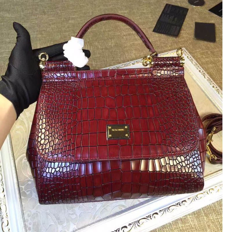 Winter 2016 new Sicily classic platinum package post crocodile leather luxury leopard Crossbody mobile commerce
