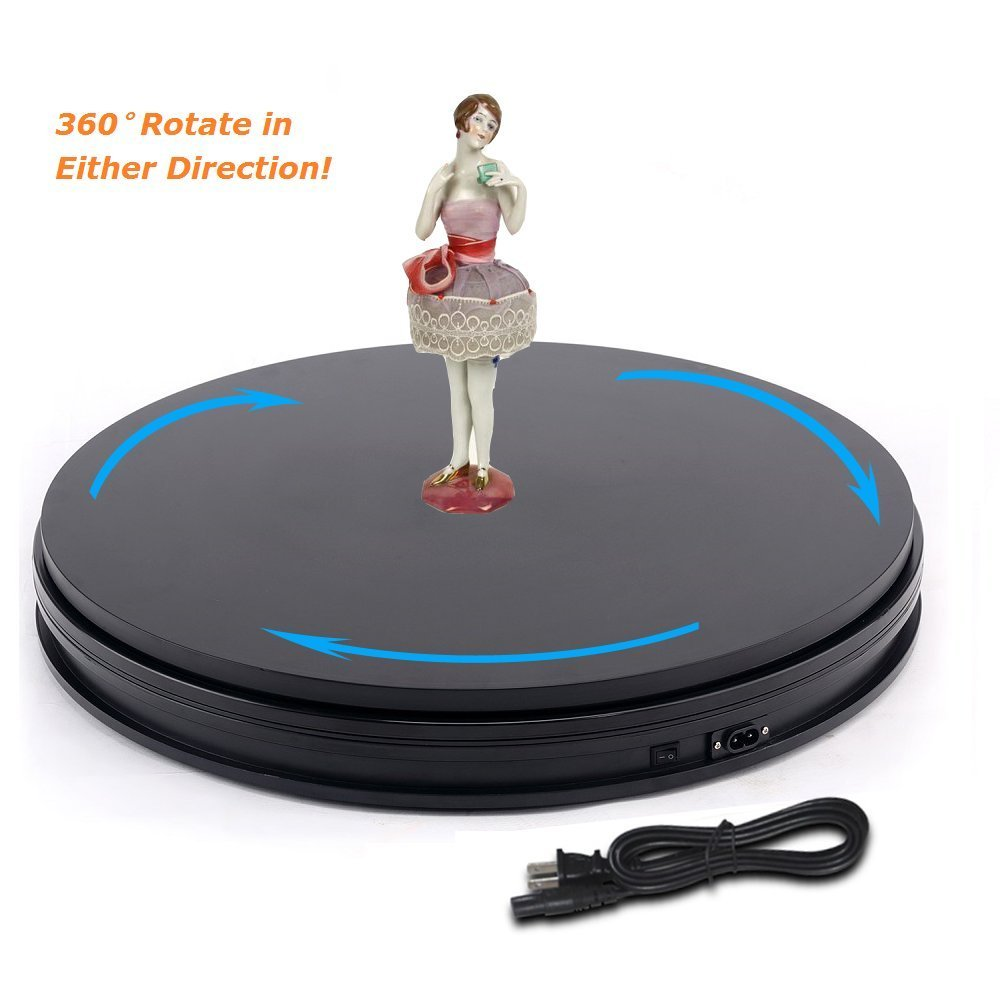 Universal 10 25cm Led Light 360 Degree Electric Rotating Turntable for Photography Showcase, Max Load 10kg, 220V / 110V