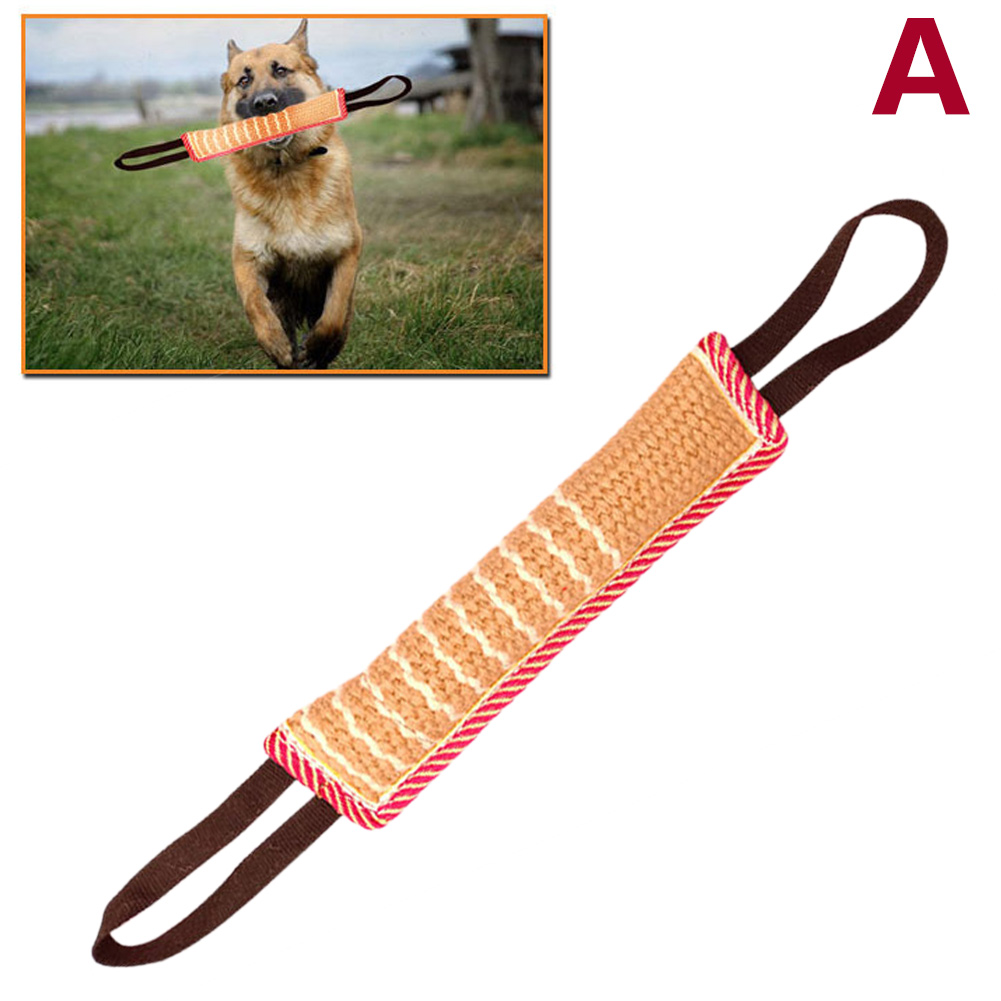 Dog-Tug-Toy Bite-Pillow Strong With 2-Rope-Handles 1pcs