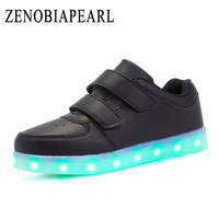 Kids Led Shoes Charge For Girl Boy Toddler Girls Sneakers Children Cartoon Sneakers With Light Soft Sports Led Shoes