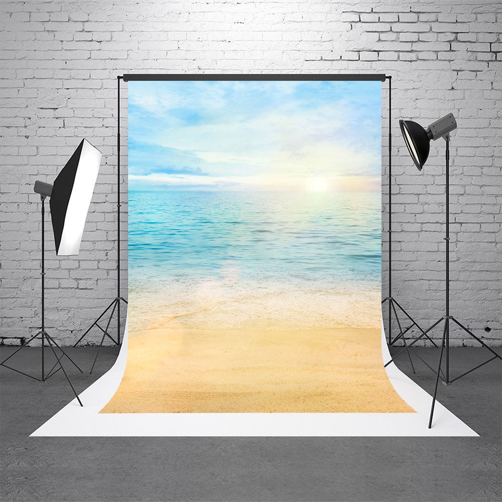 Kate 10x10ft Summer Seaside Photography Backdrops Beach Backgrounds For Photo Studio Blue Sky Heart Photography Props Backdrops+ 10x10ft kate spring scenery photography