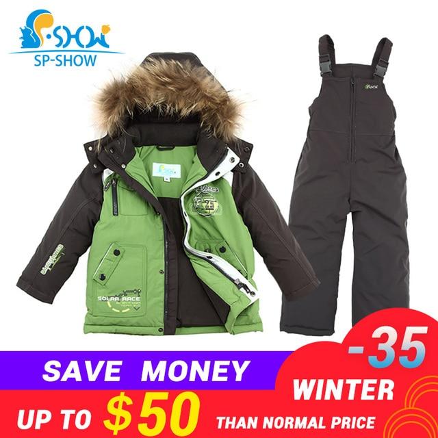 6d345f9ec4df 2018 SP-SHOW De Luxe Marque Enfants D hiver Enfants de costume Veste Garçon