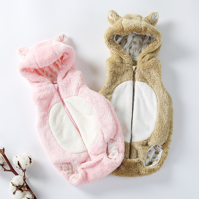 Baby romper clothes children clothing sleeveless kids romper coral fleece baby overalls baby boys girls clothes baby jumpsuit
