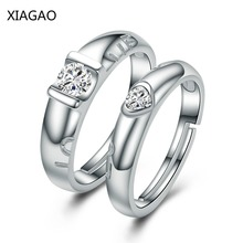 XIAGAO Anel Authentic Sterling-Silver-Jewelry Couple Rings Set Silver 925 Jewelry Ringen Wedding Engagement Ring AAA CZ I022