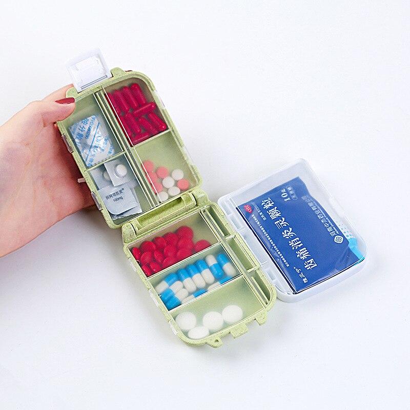 Пшеницы стебель медицины ящик для хранения три слоя восемь решетки Малый Наборы окружающей среды Наборы Портативный мини Наборы для ювелир...