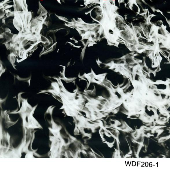 Fl002 Dekorative Material 50 Quadratmeter Breite 1 Mt Flamme Muster Pva Wassertransferdruck Film Up-To-Date-Styling