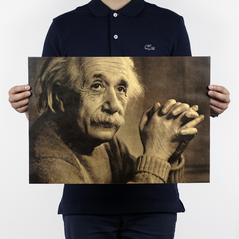 Imagination knowledge/scientist Einstein B/kraft paper/Cafe/bar poster/ Retro Poster/decorative painting 51x35.5cmFree shipping