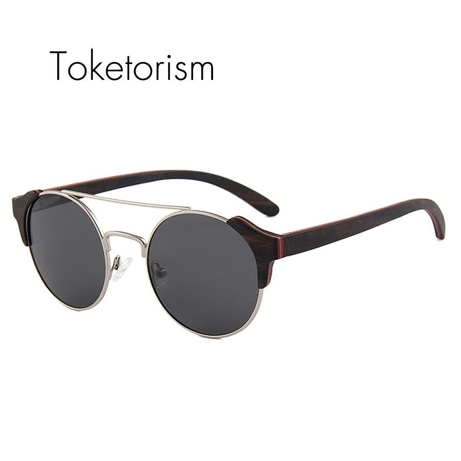 Toketorism high font b fashion b font glasses skateboard wood sunglasses women men font b polarized