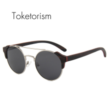 Toketorism high fashion glasses skateboard wood sunglasses women men polarized gafas de sol 6603