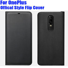 Official Style PU Leather Flip cover Case For ONEPLUS 7 Pro 6 6T 5 5T 3 3T Smart Wake UP/Sleep + Screen Protector OP63(China)