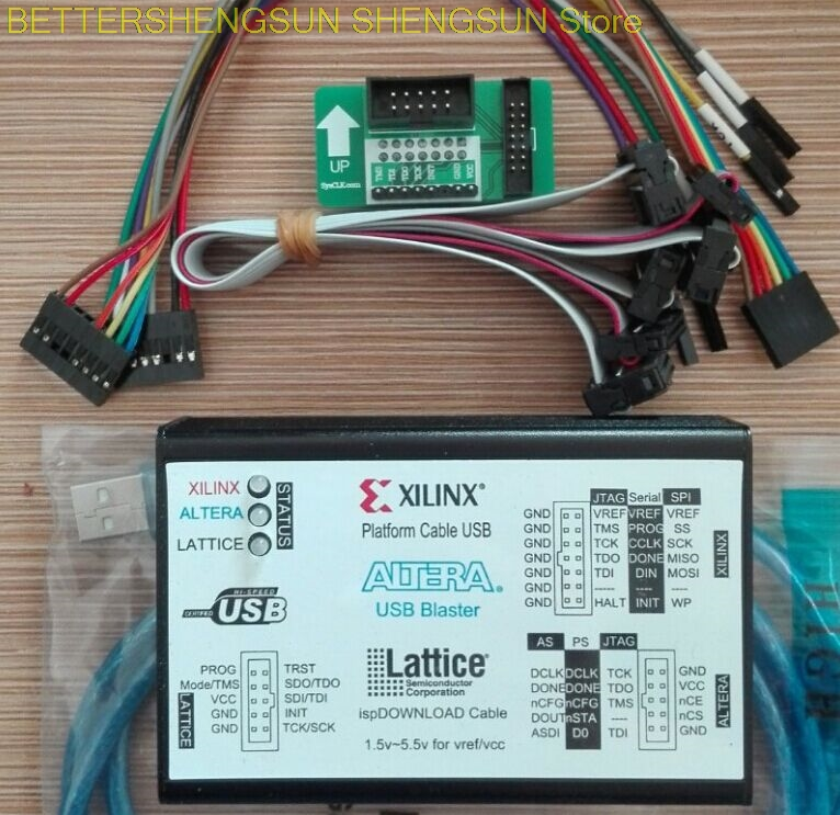 Xilinx download line ALTERA LATTICE3  1USB New Program Burning and Writing FPGA CPLD DownloaderXilinx download line ALTERA LATTICE3  1USB New Program Burning and Writing FPGA CPLD Downloader