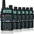 6 ШТ. BaoFeng УФ-5R Портативной Рации UV5R двухстороннее радио мощность 5 Вт Профессиональные FM dual band портативный CB радио