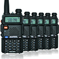 6PCS BaoFeng UV-5R Walkie Talkie UV5R two way radio power 5W  Professional  FM dual band  portable CB radio