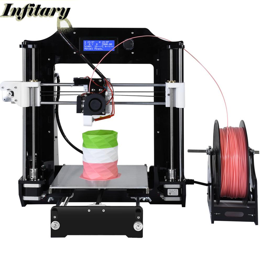 Prix pour 2017 date amélioré reprap prusa i3 3d imprimante kits haute qualité De Bureau CNC Complet couleurs 3d imprimante avec 1 Rouleau filaments