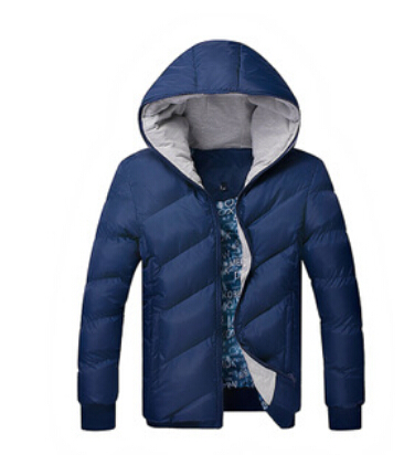 Men's cotton padded male Korean male fashion chain hat men   down     coat     coat   thickness