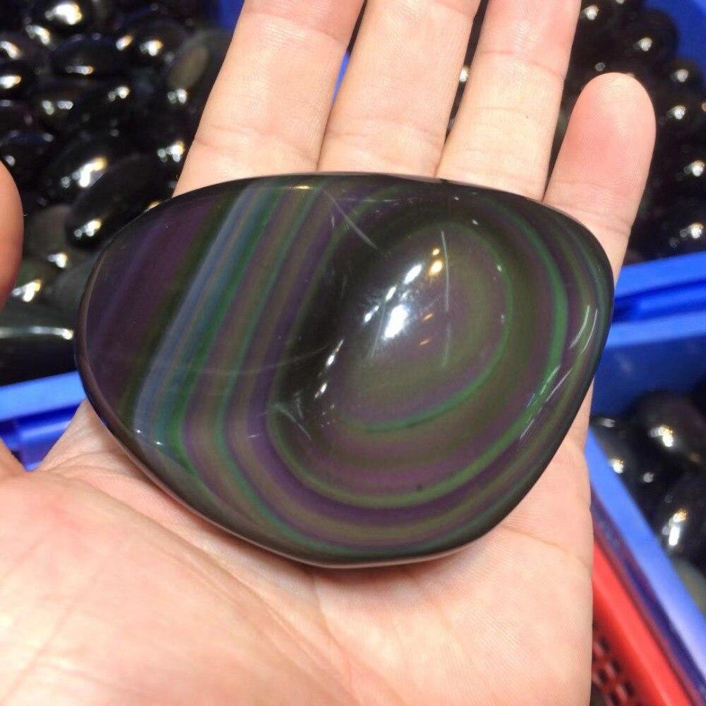 Perles de pierre obsidienne arc-en-ciel en forme de papillon perles de pierre gemme naturelle décoration pour la maison pour le cadeau en gros! - 5